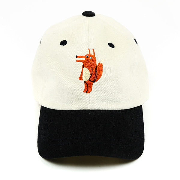 Bebedepino Cotton twill fox baseball cap