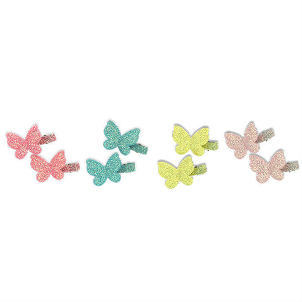 Milk & Soda Mini Glitter Butterfly Duck Clip