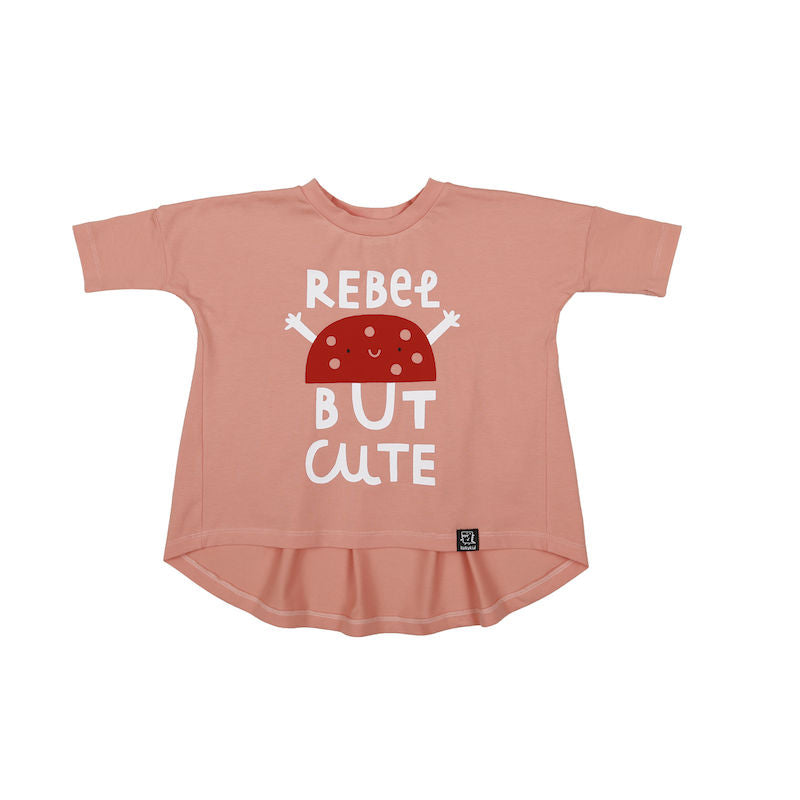 Kukukid OVERSIZED TUNIC PEACH REBEL BUT CUTE