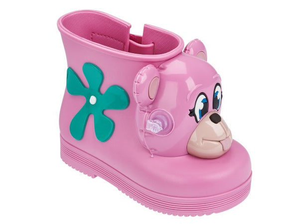 Mini Melissa Jeremy Scott + Monkey Boot Pink Gloss