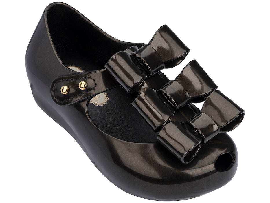 Mini Melissa Ultragirl Triple Bow Black