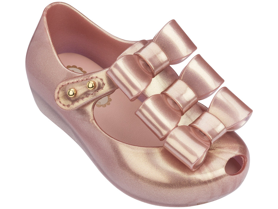 Mini Melissa Ultragirl Triple Bow Rose