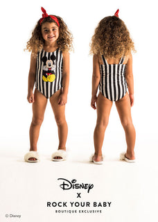 Rock Your Kid The Thinker Stripe  One Piece Swimsuit