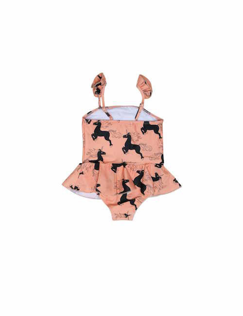 Mini Rodini Unicorn Skirt Swimsuit Pink