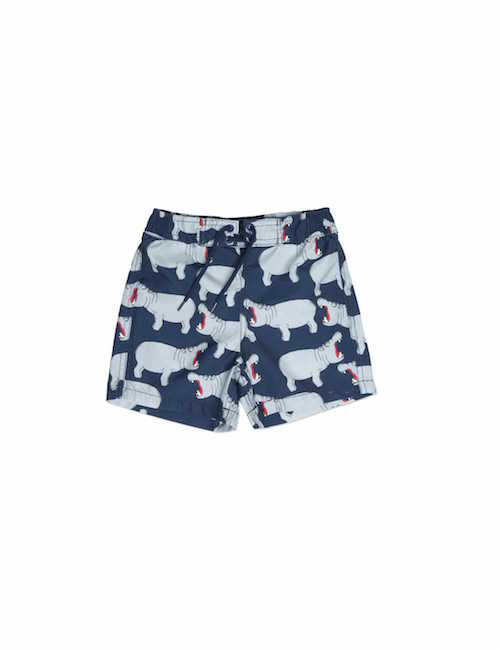 Mini Rodini Hippo Swim Shorts Grey
