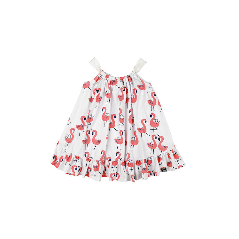 Kukukid Bow Dress White Flamigs