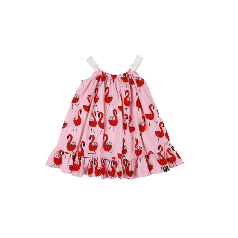 Kukukid Bow Dress Pink Flamigs