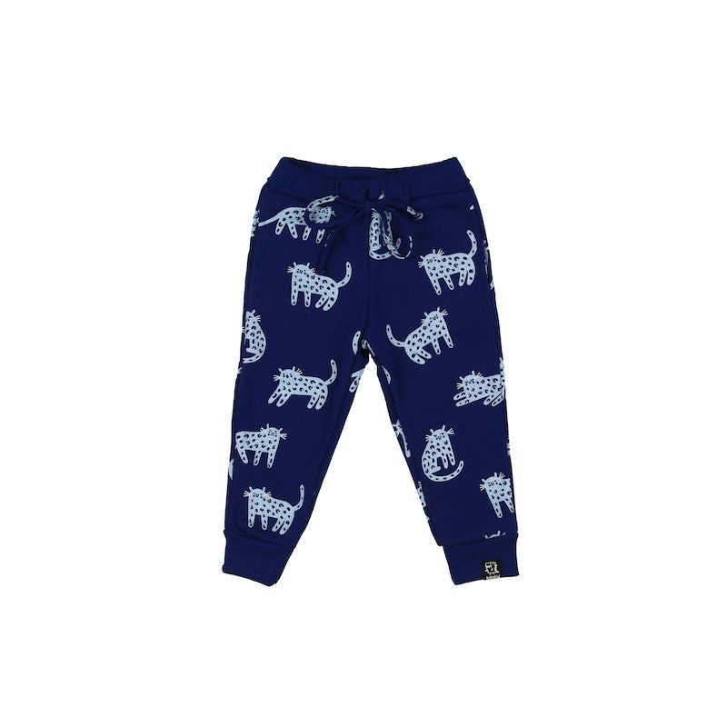 Kukukid Pocket Pants Berry Blue Cheetah
