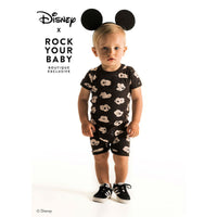 Rock Your Baby Mickey Visage SS Playsuit
