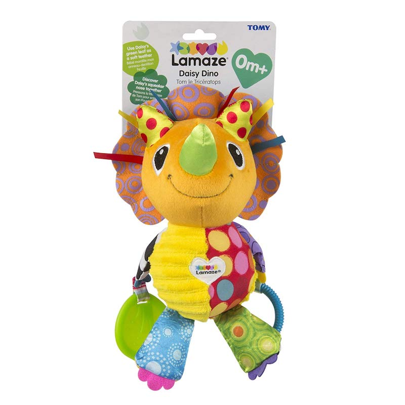 Lamaze Daisy Dino Clip On Pram and Pushchair Baby Toy