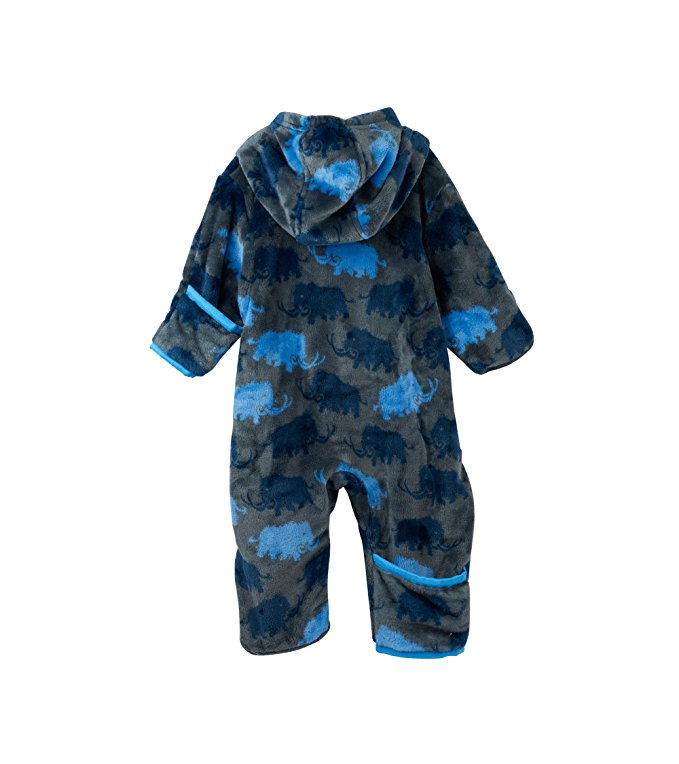 Hatley Baby Boy Woolly Mammoth Fuzzy Fleece Mini Bundlers