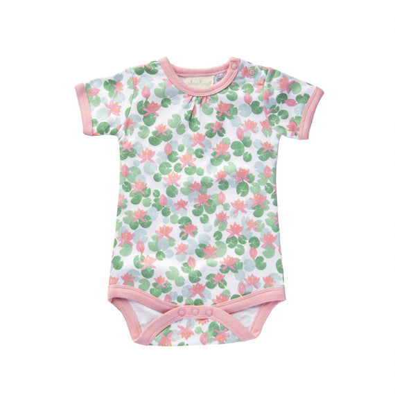 Sapling Floating Lotus  Short Sleeve Bodysuit