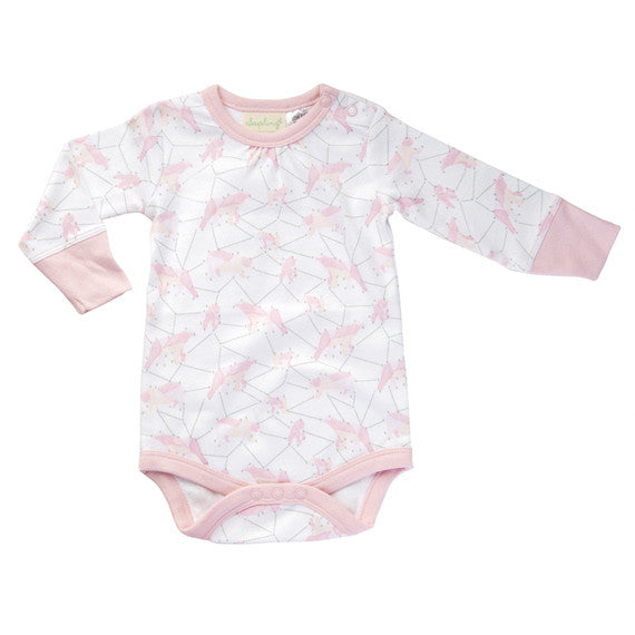 Sapling Galaxy Bear Pink Long Sleeve Bodysuit