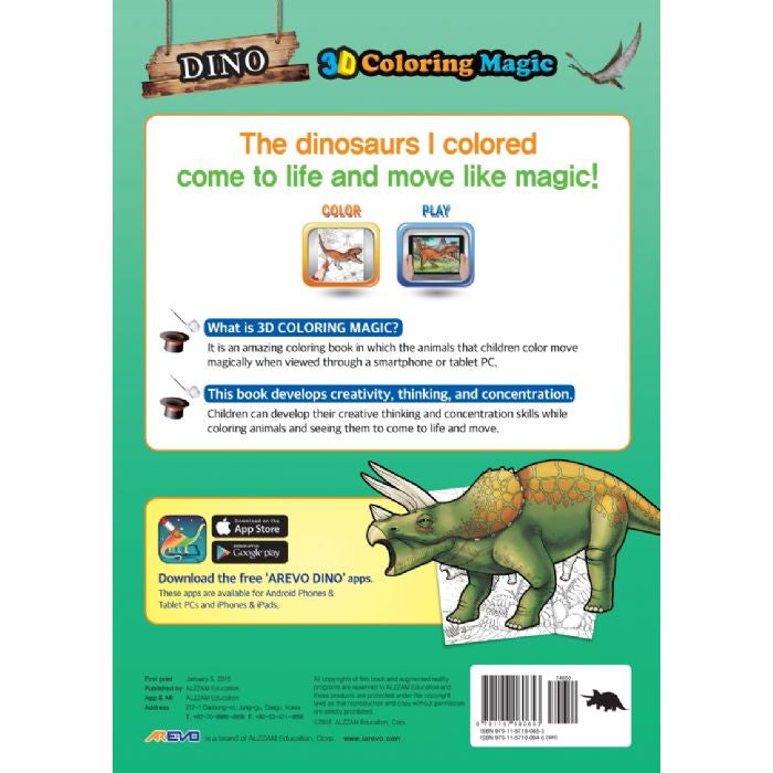 Evo Dino 3D Colouring Book