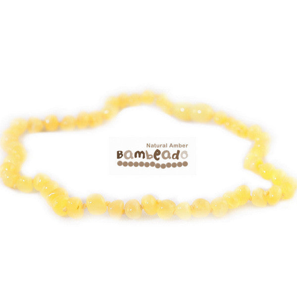 Bambeado Child Necklace Bud 37cm-Butterscotch