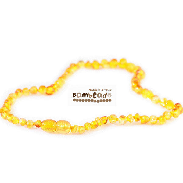 Bambeado Child Necklace Bud 37cm-Honey