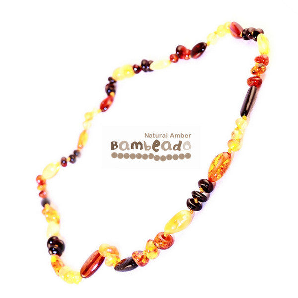 Bambeado Child Necklace Bean 37cm-Mixed