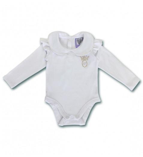 Angel's Face White Baby Grow