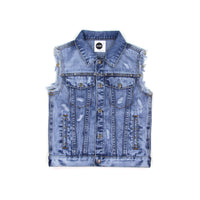 Sudo Memphis Denim Vest Blue