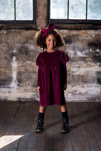 Rock Your Kid Plum Corduroy Dress