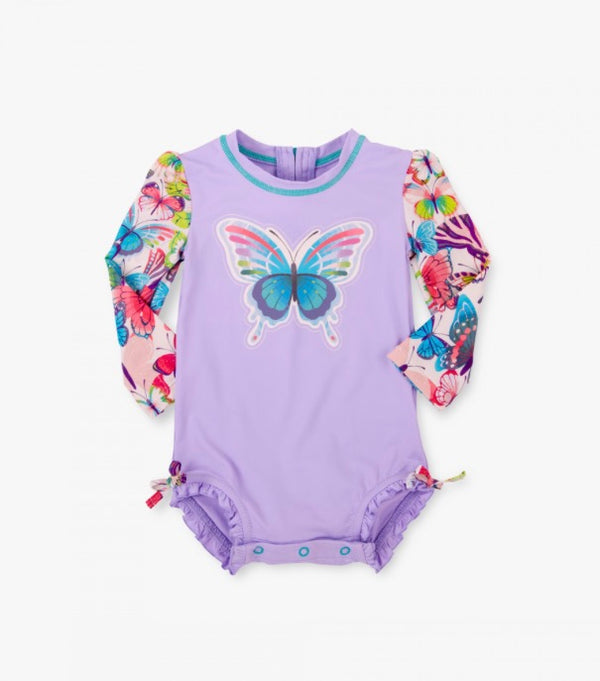 Hatley Colorful Butterflies Baby Rash Guard