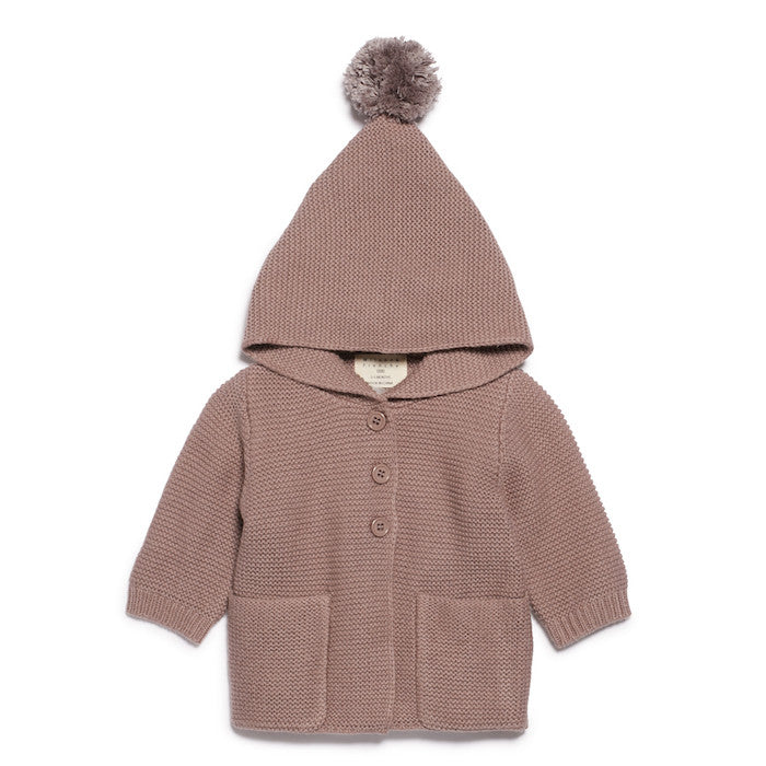 Wilson & Frenchy Knitted Jacket With Hood Wood