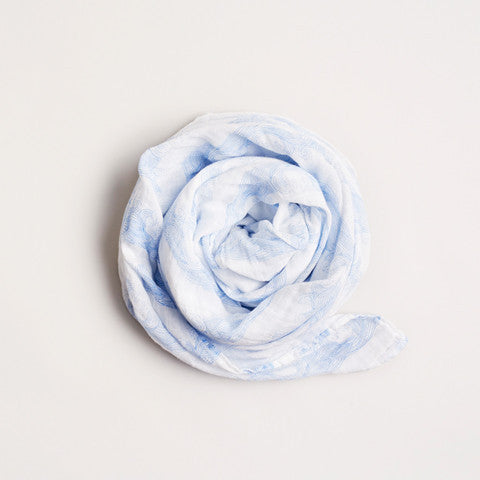 Wilson & Frenchy Rolling tides Muslin wrap