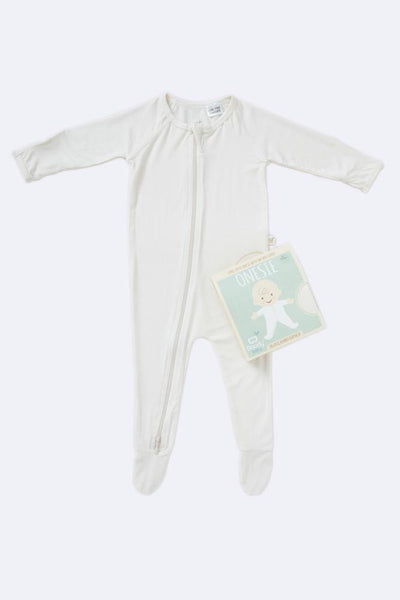 Boody Long Sleeve Onesie Chalk