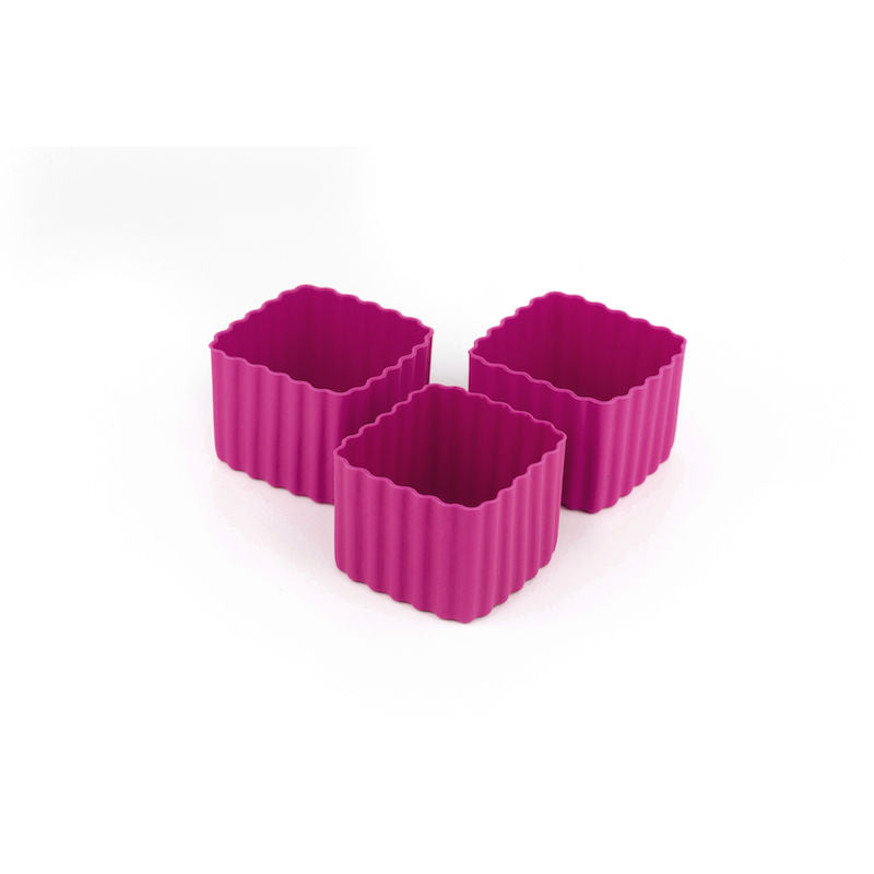 Little Lunch Box Co Bento Cup 3 Pack Square – Dark Pink