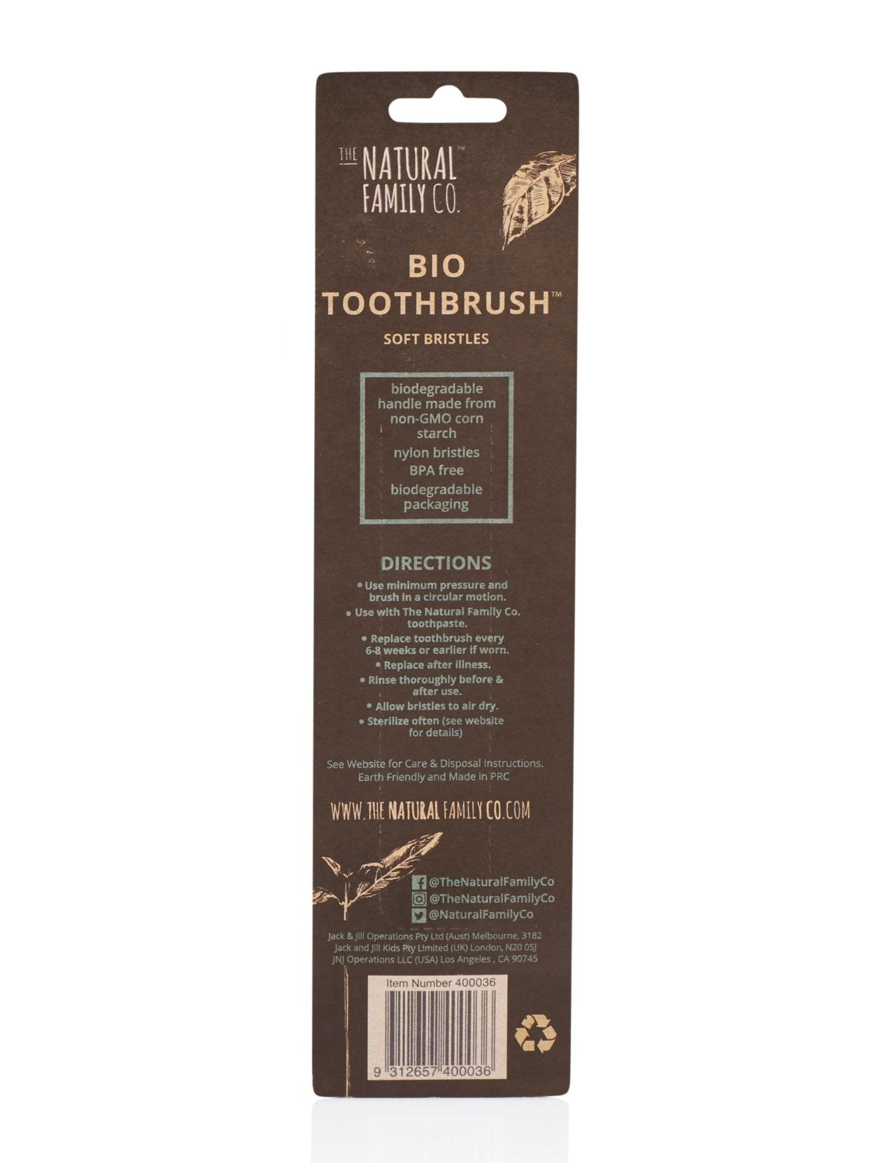 The Natural Family Co Bio Brush Twin Pk - Rivermint & Ivory Desert