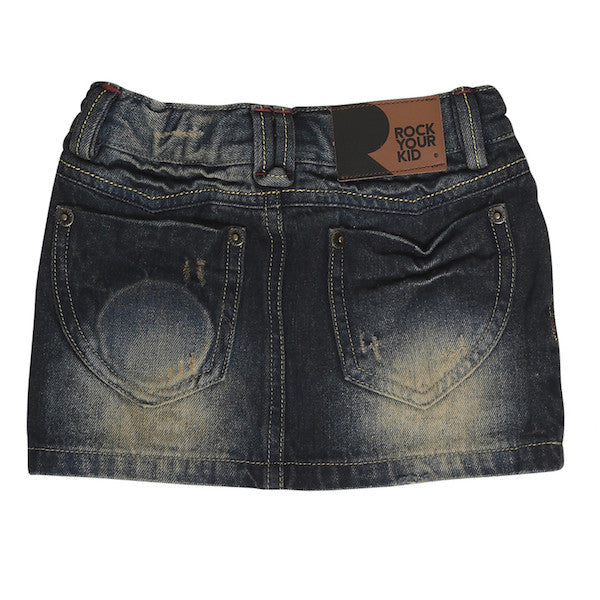 Rock Your Kid Brass in Pocket Denim Skirt