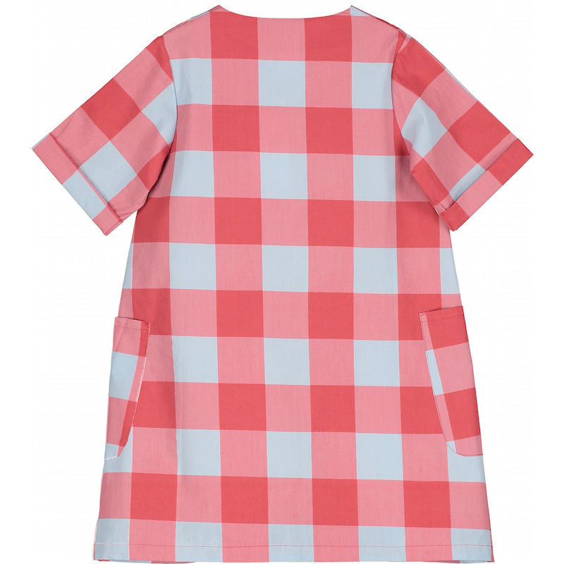 Beau Loves Button Front Dress Gingham