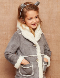 Hatley Taupe Faux Sherpa Jacket