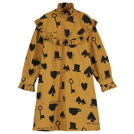 Beau Loves Collar Dress Dark Camel