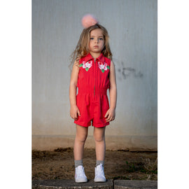 Rock Your Kid Embroidered Rose Jumpsuit