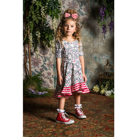Rock Your Kid Unicorn Love Waisted Frill Dress