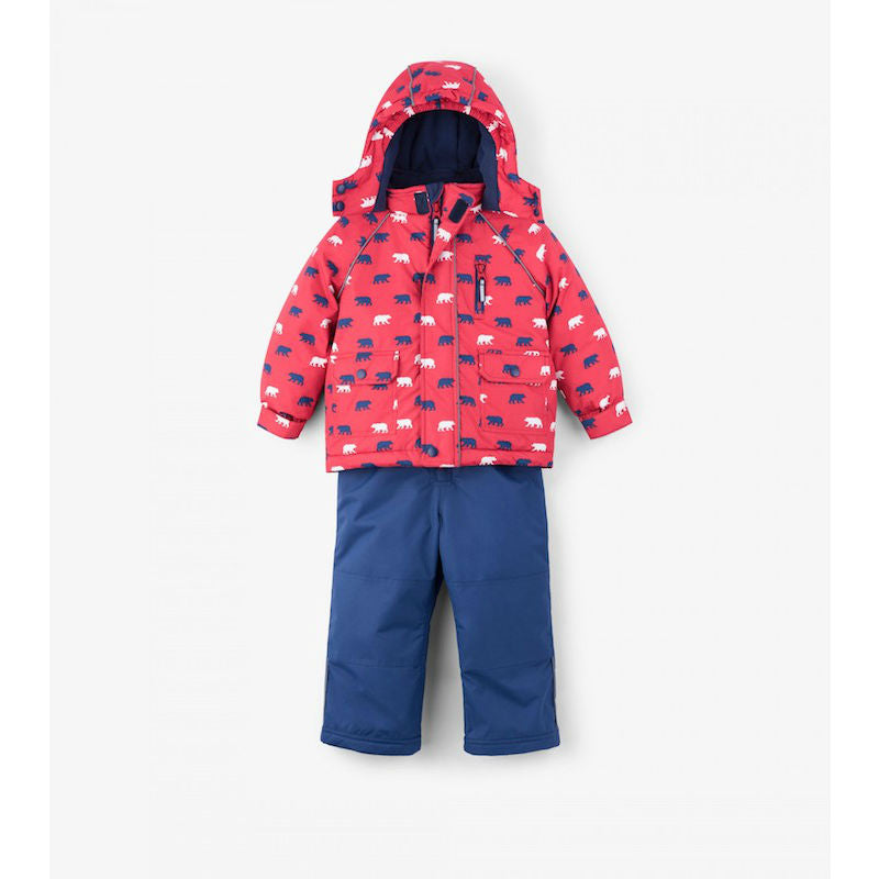 Hatley Polar Bear Silhouettes Baby Snowsuit Set