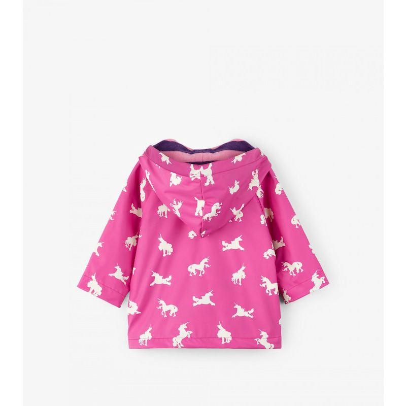 Hatley Colour Changing Unicorn Silhouettes Raincoat