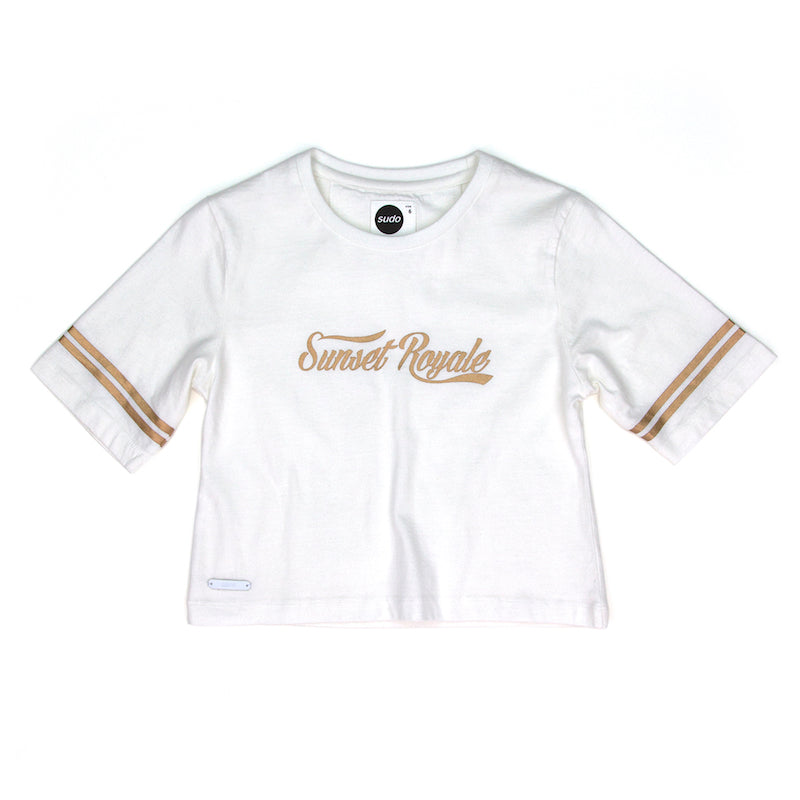 Sudo Tillie S/S Cropped Tee White