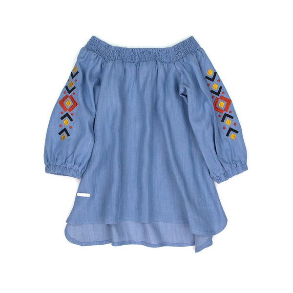 Sudo Boheme Embroided Blouse Chambray