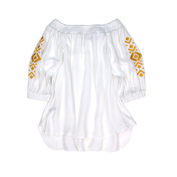 Sudo Boheme Embroided Blouse White