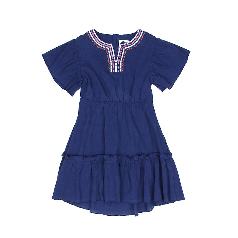 Sudo Indiana Ruffle Dress Indigo