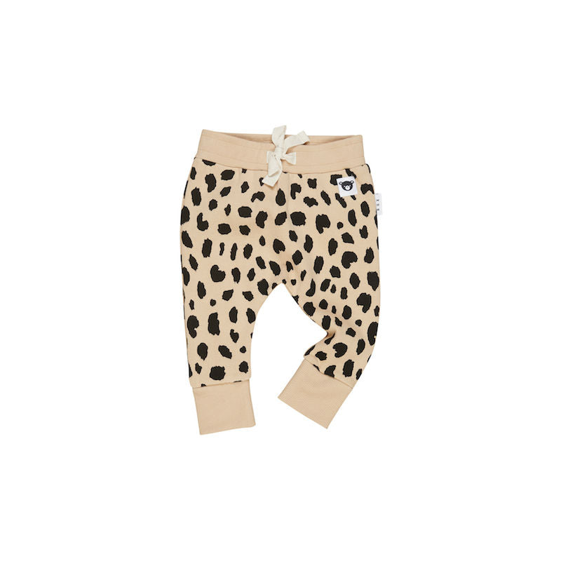 Huxbaby Animal Spot Drop Crotch Pant - Fleece