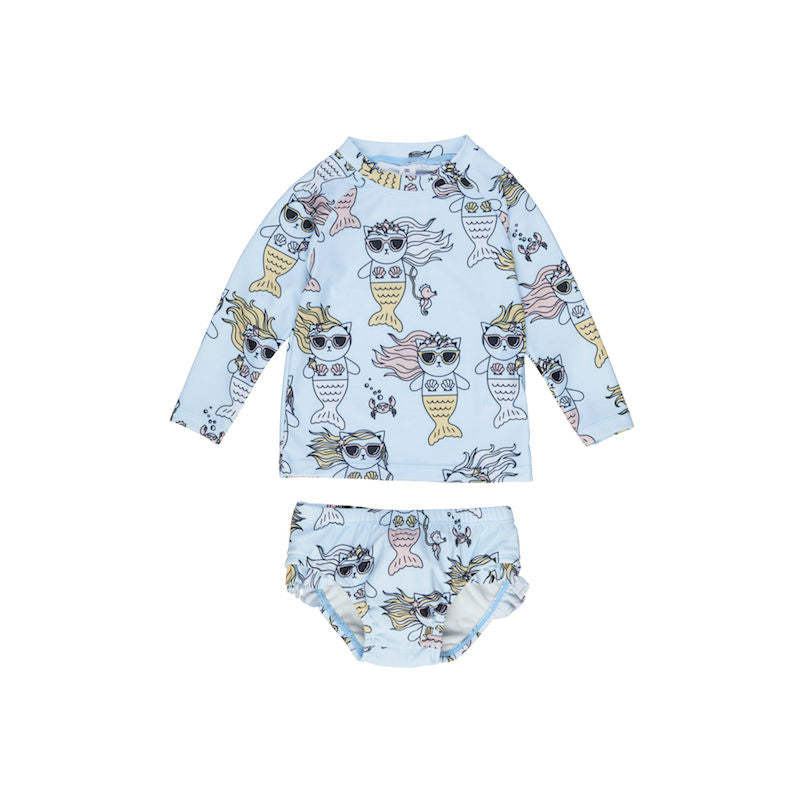 Huxbaby Meow-Maid Rashguard 2Pc Set