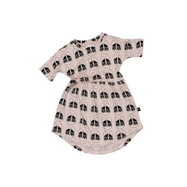 Huxbaby French Shades Dress Rose Dust
