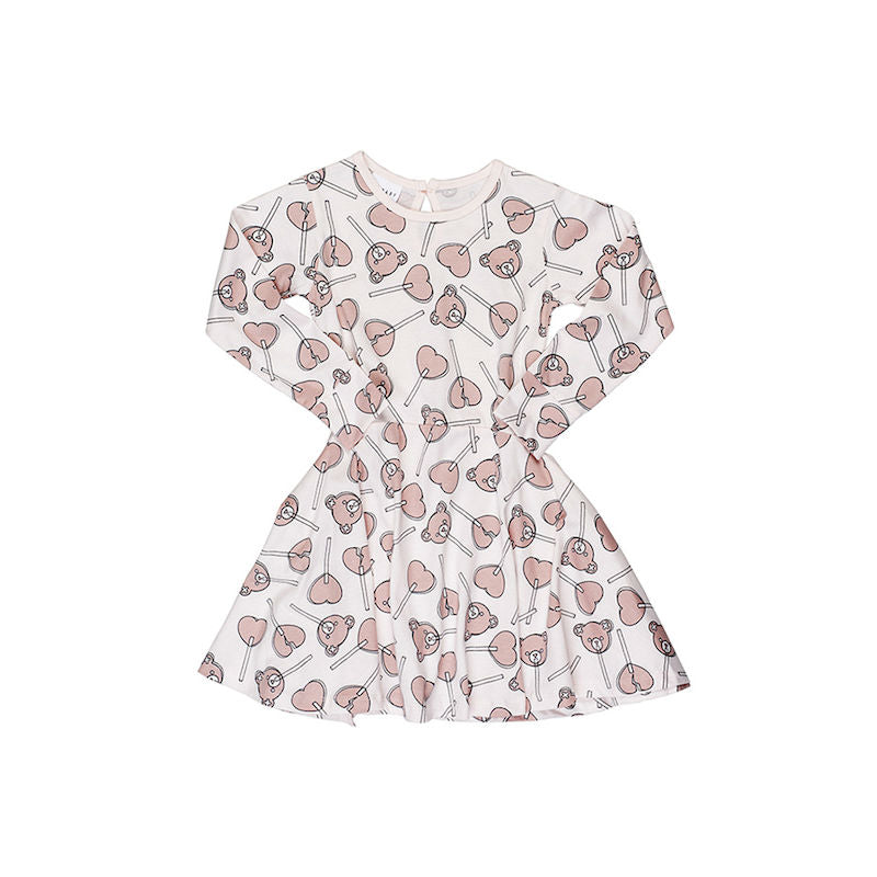Huxbaby Lolly Bear Skater Dress Angel
