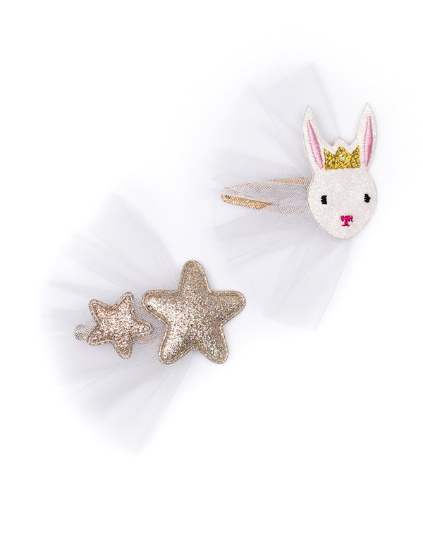 Billy Loves Audrey Ballet Rabbit Hair Clip Set