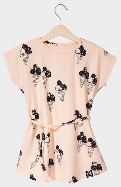 Kukukid DRESS/TUNIC Peach Ice-cream