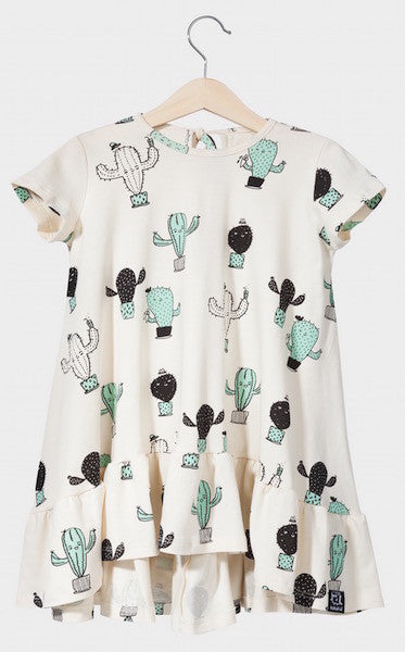 [SALE]Kukukid DRESS/SHORTSLEEVE Beige Cactus