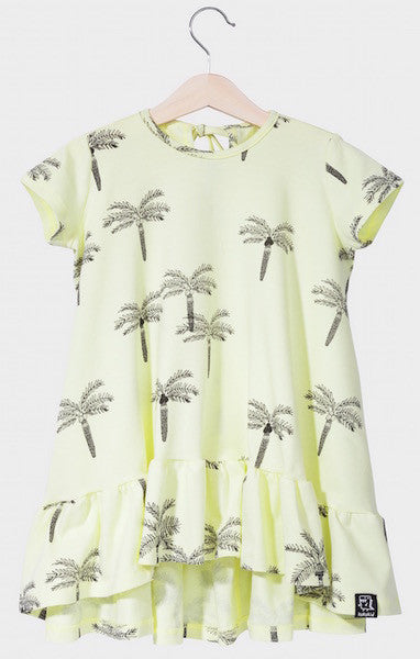 Kukukid DRESS/SHORTSLEEVE Lemon Palms